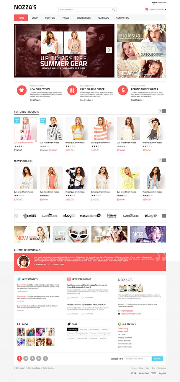 FashionZozza WooCommerce Theme Image