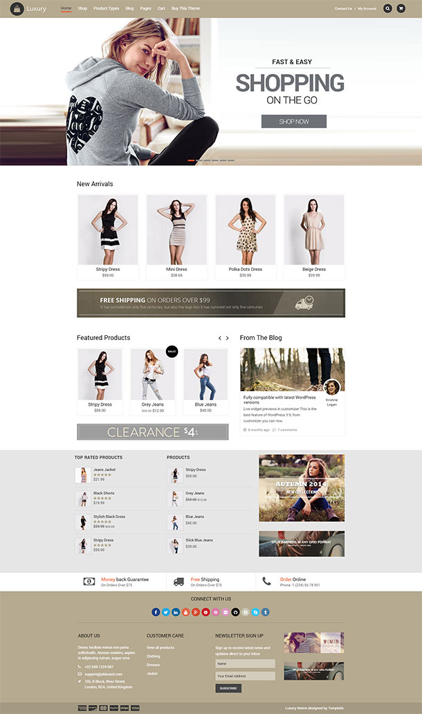 Luxury WooCommerce Theme