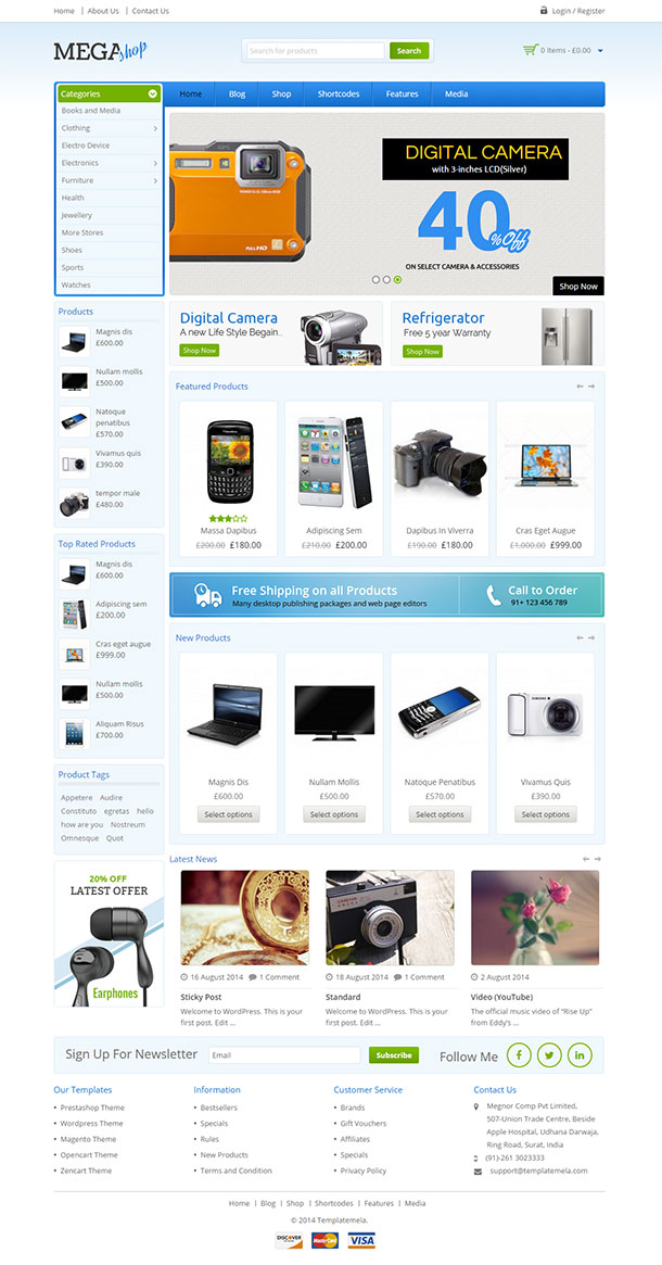 Megashop WordPress theme Image