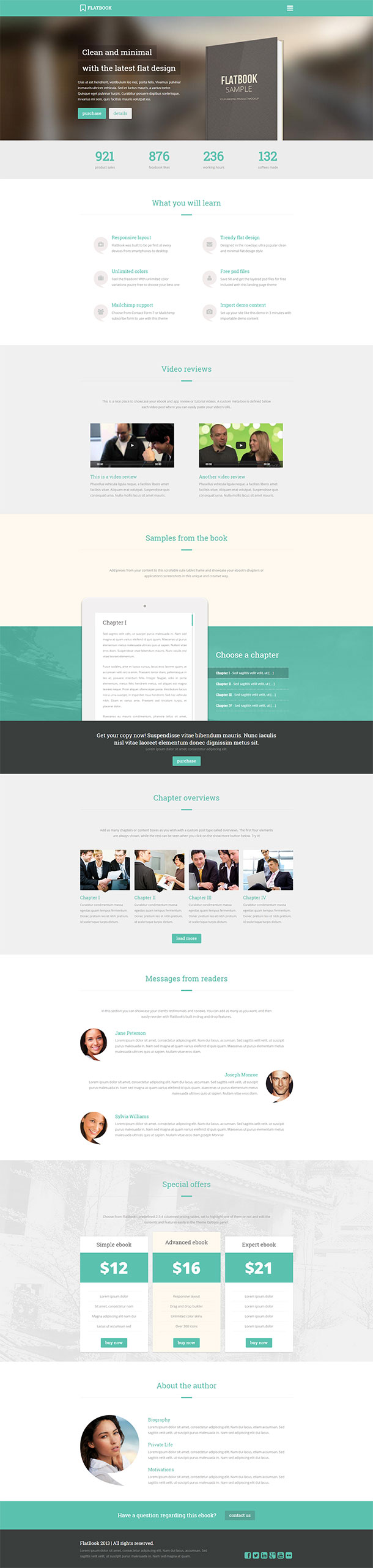 Flatbook Landing Page Template