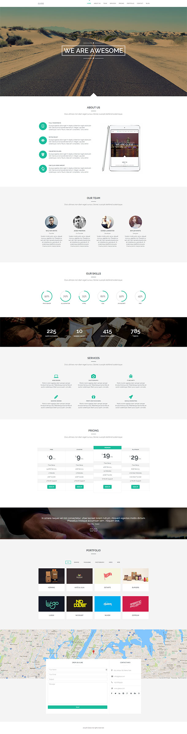 Gliese WordPress Theme Image