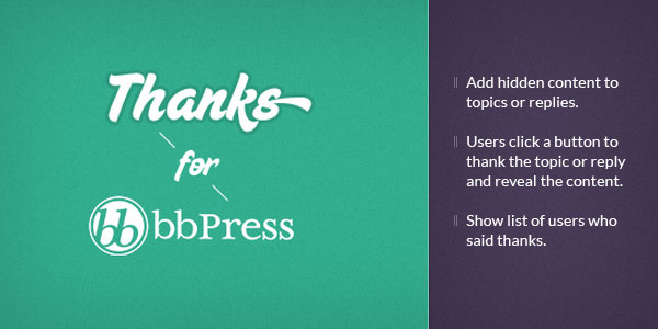 Thanks for bbPress