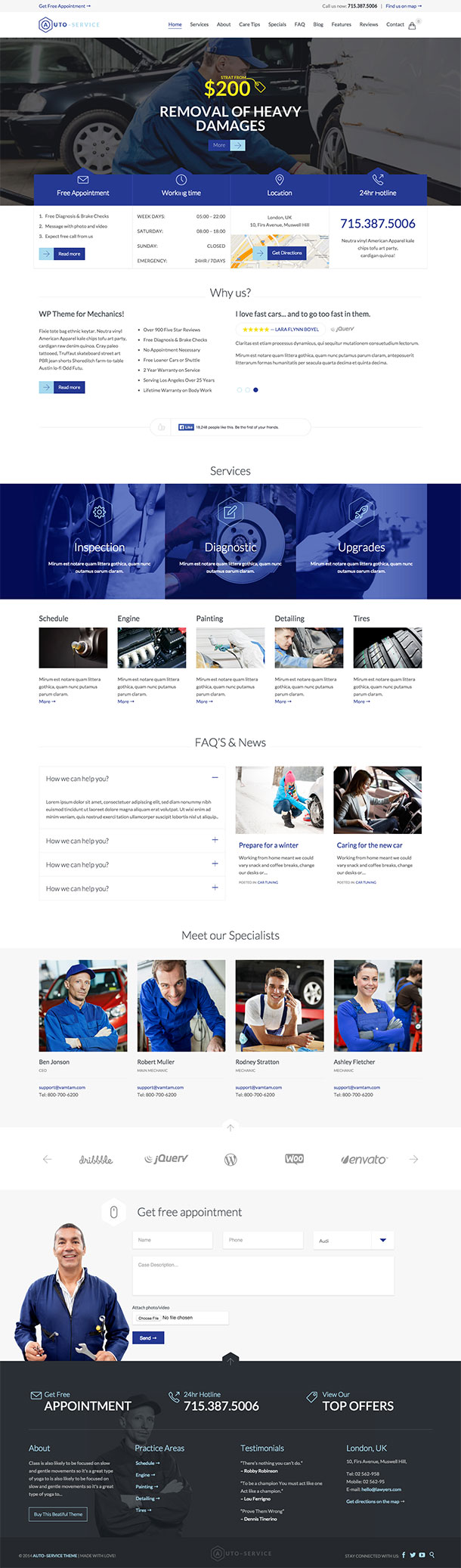 Auto Service WordPress Theme Image
