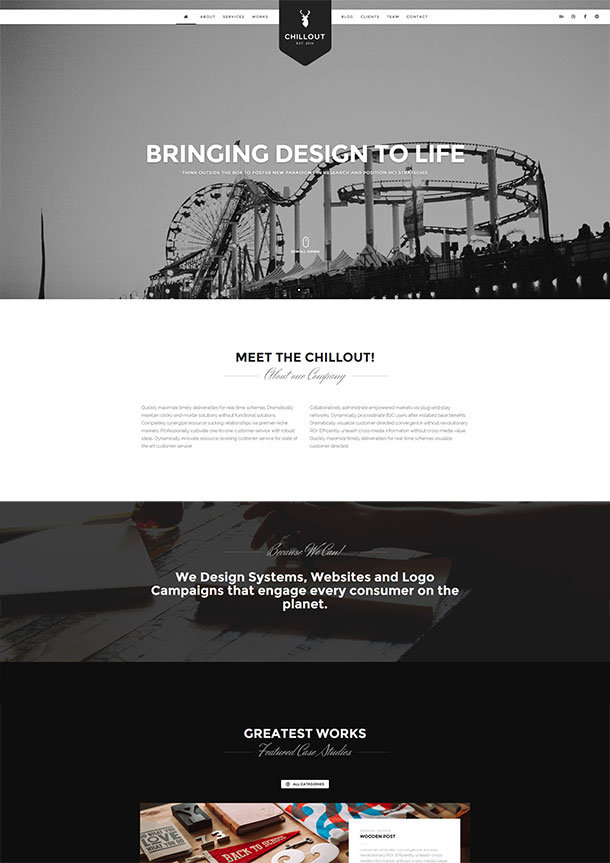 Chillout WordPress Template
