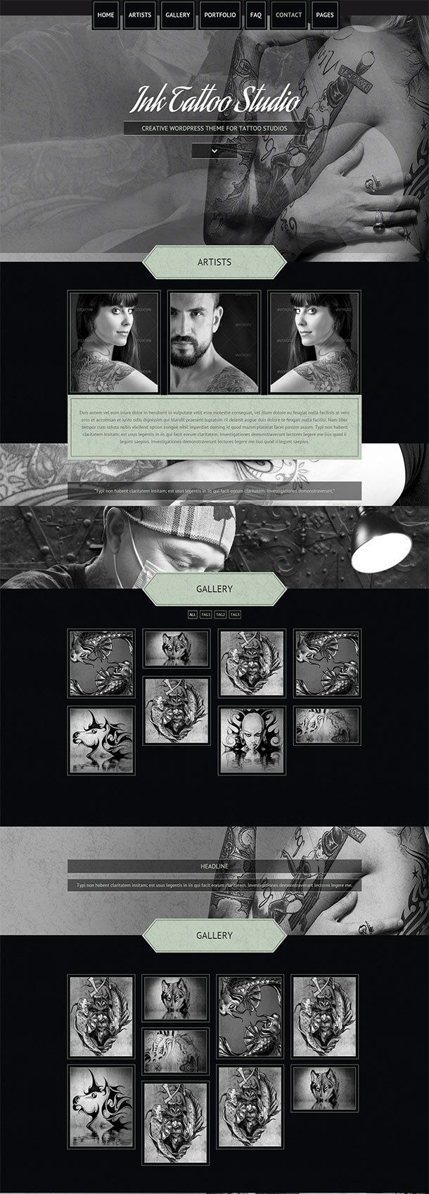 Ink Tattoo Studio Template Image