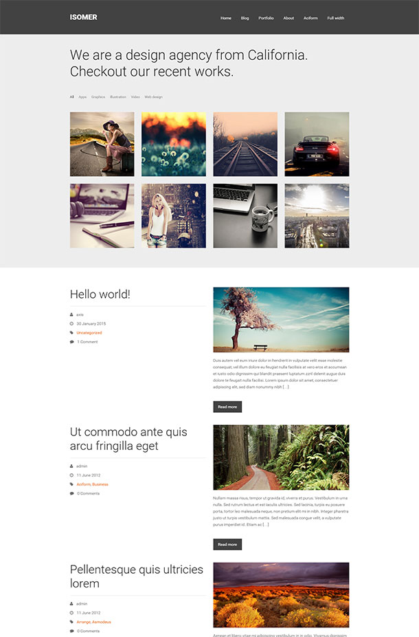 Isomer Photography Theme