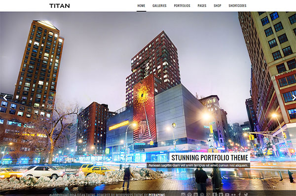 Titan Photography Theme Image
