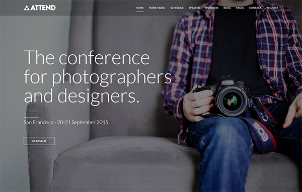 Attend Photography WordPress Theme