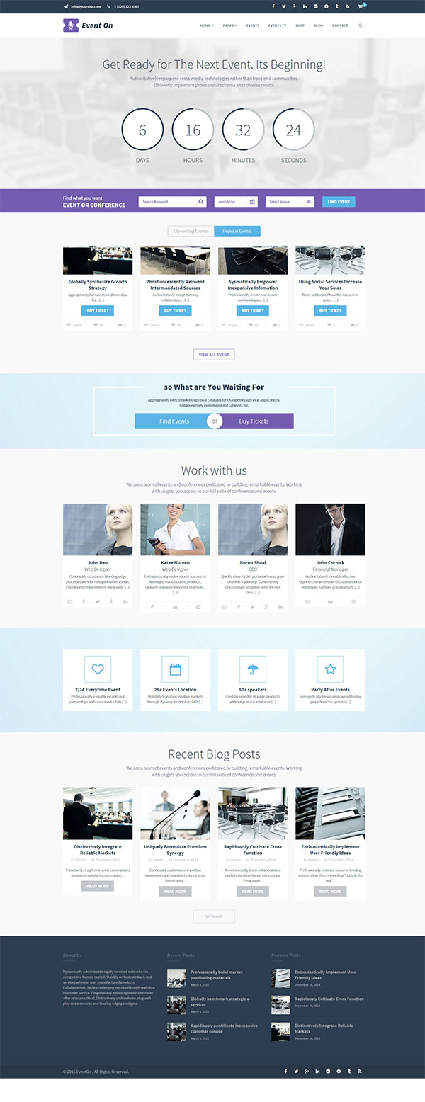 Event On WordPress Theme Image