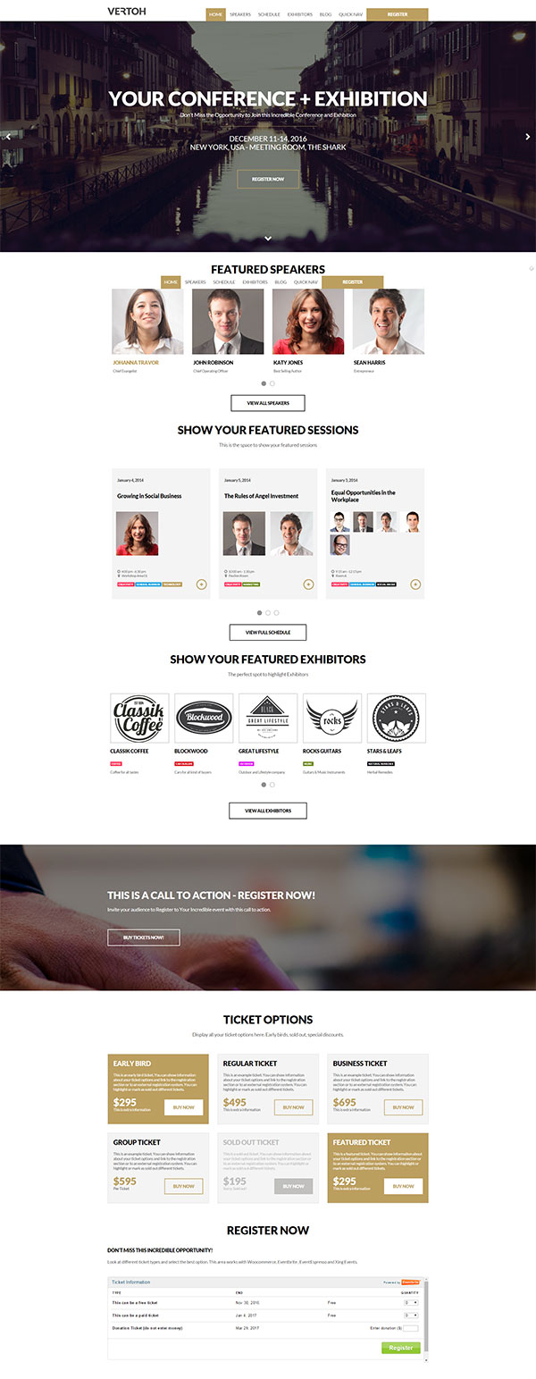 Vertoh Conference WordPress Theme