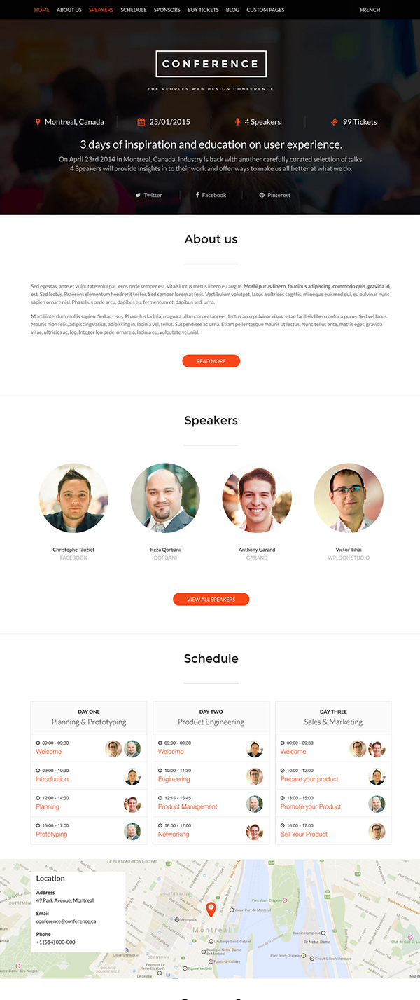 Conference WP Theme