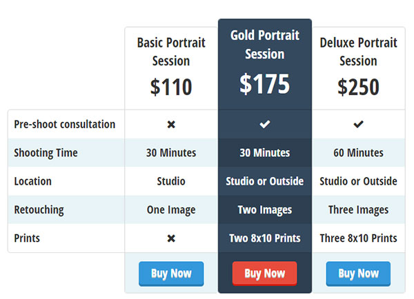 Easy Pricing Tables Image