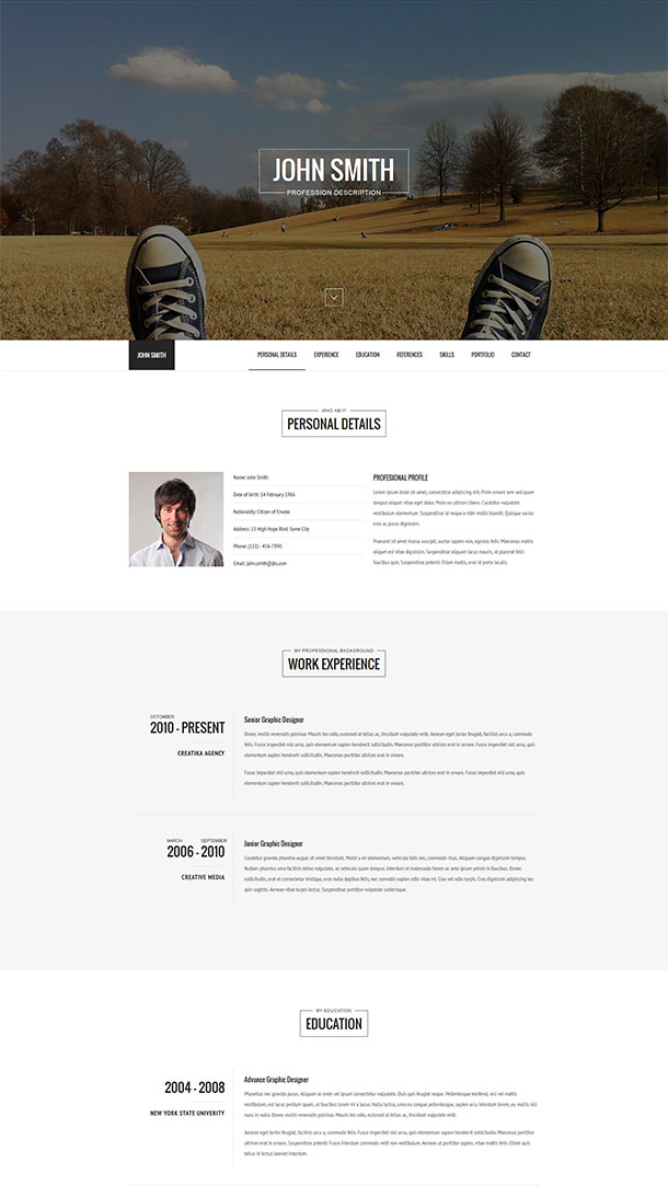 Versus Resume Theme