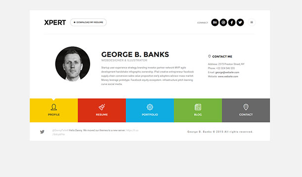 Stylish Resume Wordpress Themes