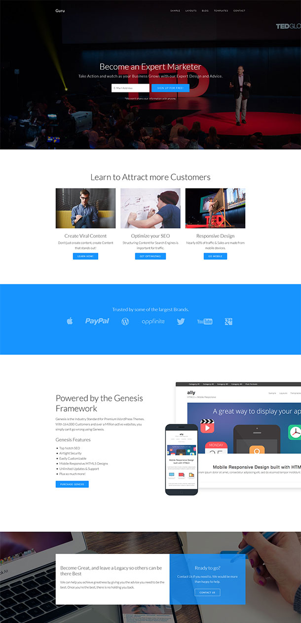 Guru WordPress Child Template Image