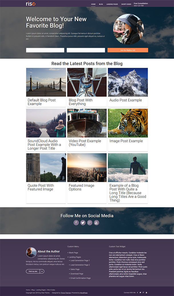 Rise WordPress Theme