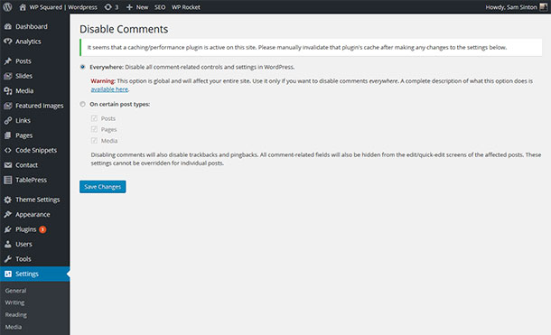 Disable Comments WordPress Plugin Image