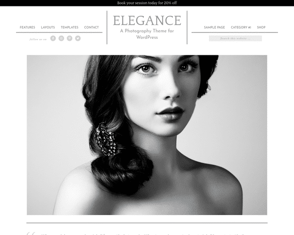 Elegance Pro Photography Theme