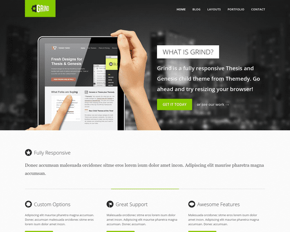 Grind WordPress Theme