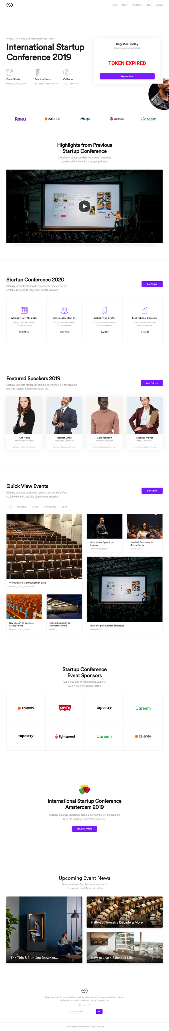 Webify Conference WP Theme