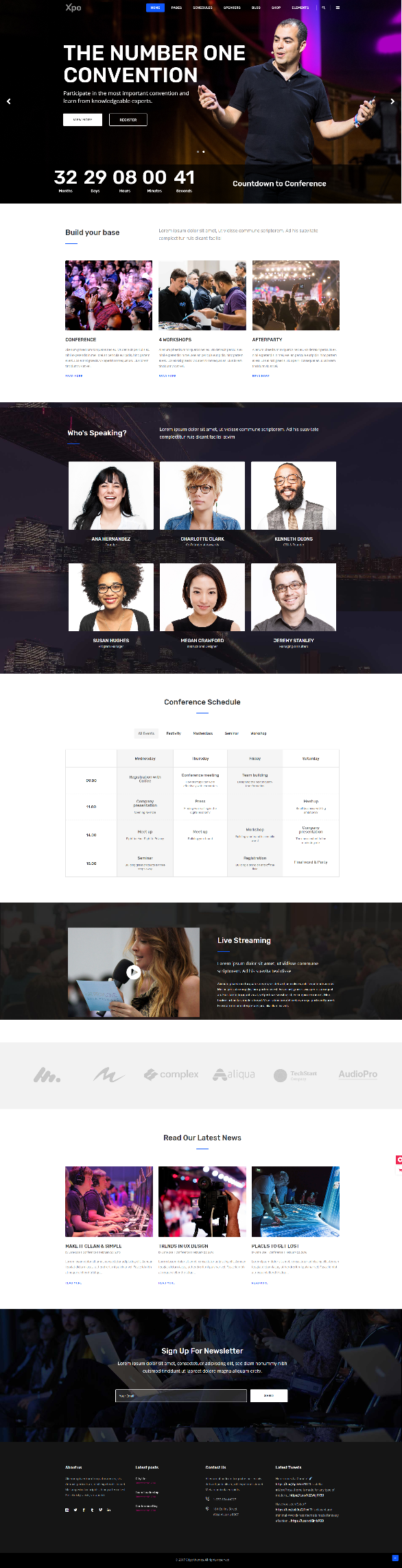 Xpo Conference WordPress Theme