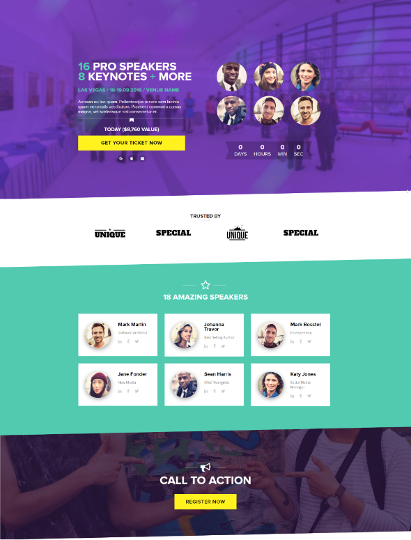 Open Event WordPress Theme